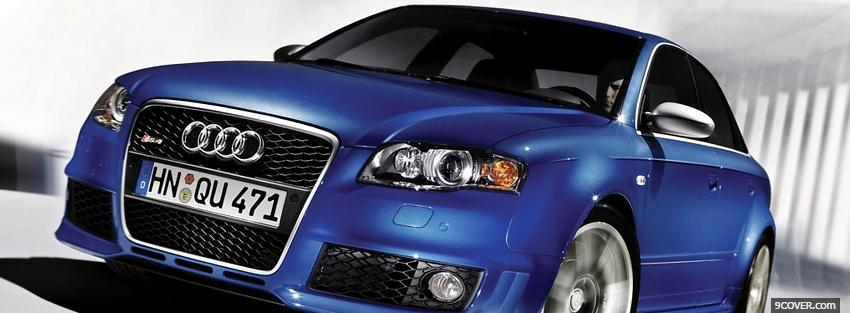 Photo blue audi rs4 2012 Facebook Cover for Free
