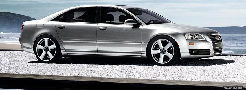 Photo side audi a8 Facebook Cover for Free