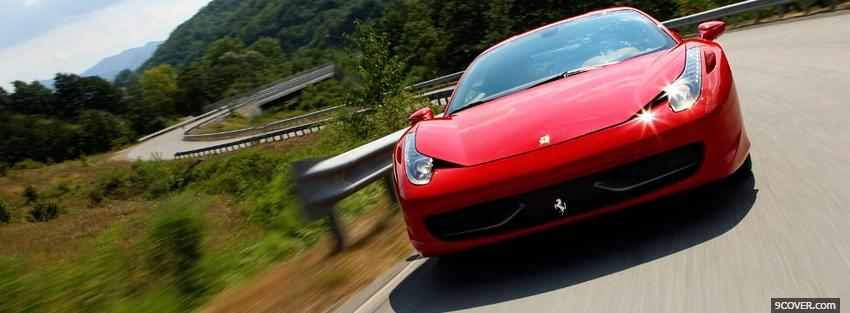 Photo 2010 ferrari 458 italia Facebook Cover for Free