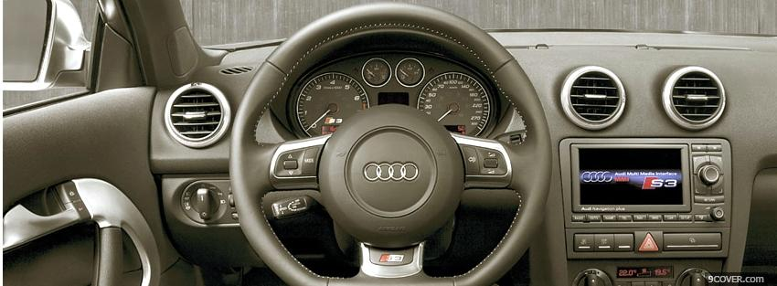 Photo audi s3 interior Facebook Cover for Free
