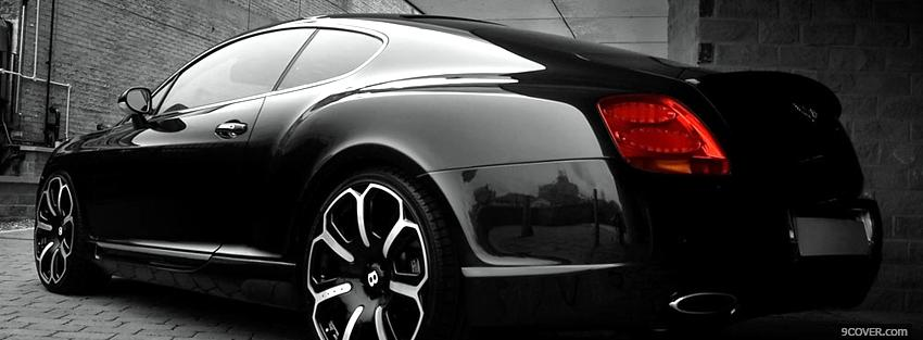 Photo black edition bentley continental Facebook Cover for Free