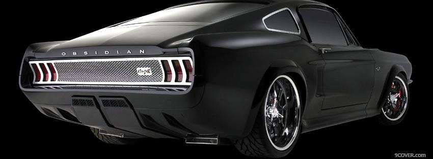 Photo black mustang obsidian car Facebook Cover for Free