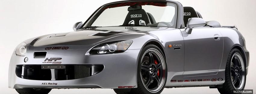 Photo honda s200 car Facebook Cover for Free