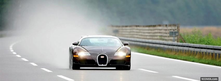 Photo bugatti veyron outside Facebook Cover for Free