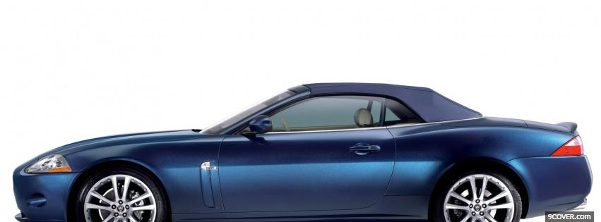 Photo side of jaguar xk convertible Facebook Cover for Free