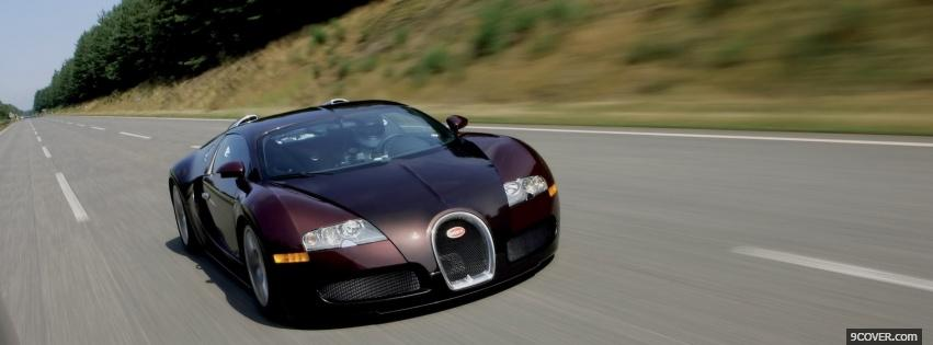 Photo bugatti veyron driving Facebook Cover for Free