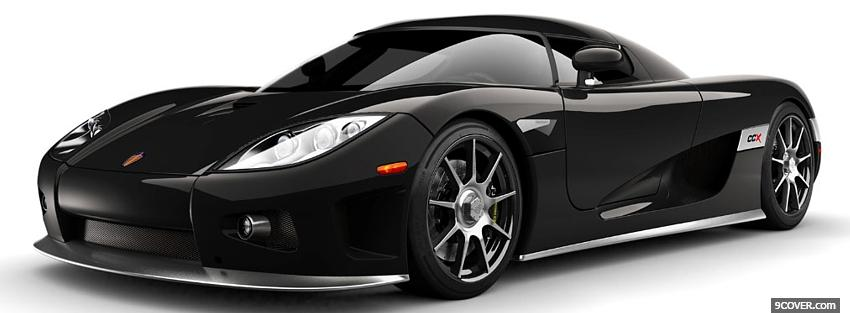 Photo koenigsegg ccx black car Facebook Cover for Free
