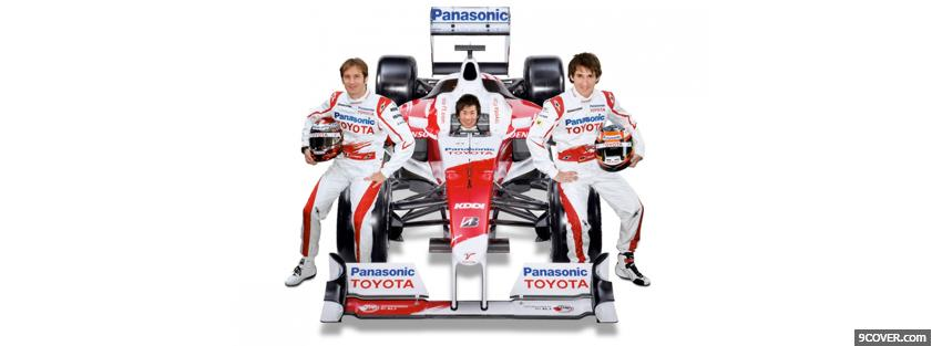Photo racecar drivers toyota Facebook Cover for Free