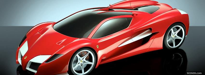 Photo red ferrari f70 car Facebook Cover for Free