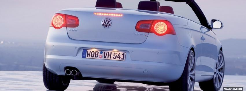 Photo vw eos back view Facebook Cover for Free