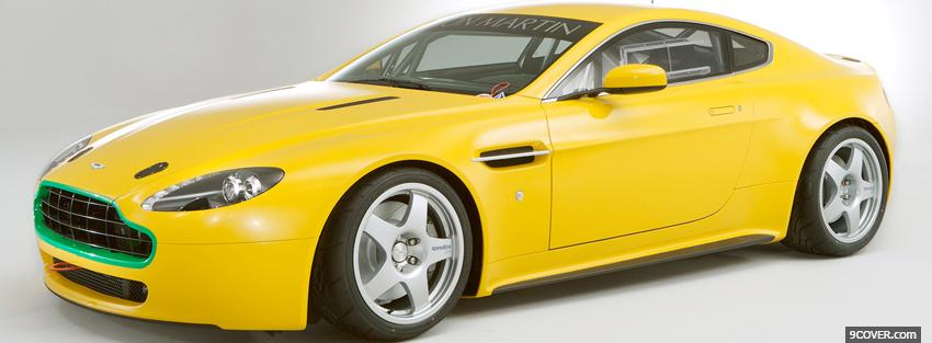 Photo aston martin vantage car Facebook Cover for Free