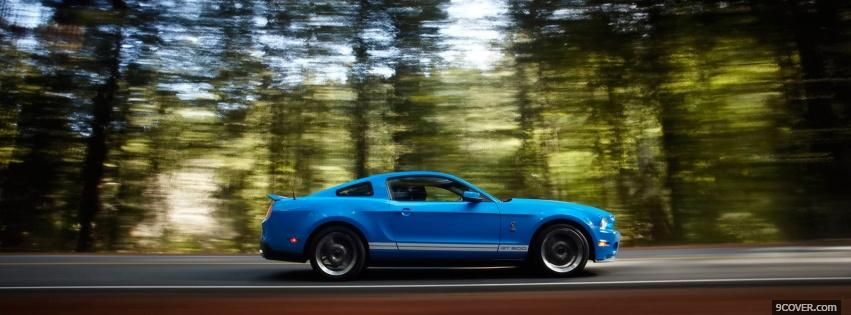 Photo blue ford mustang shelby Facebook Cover for Free