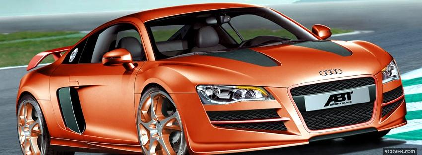 Photo audi orange car Facebook Cover for Free