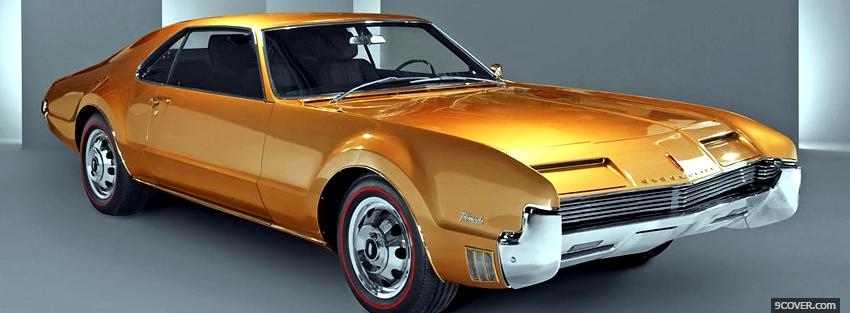 Photo 1966 oldsmobile toronado car Facebook Cover for Free
