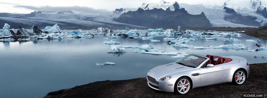 Photo aston martin and ice car Facebook Cover for Free