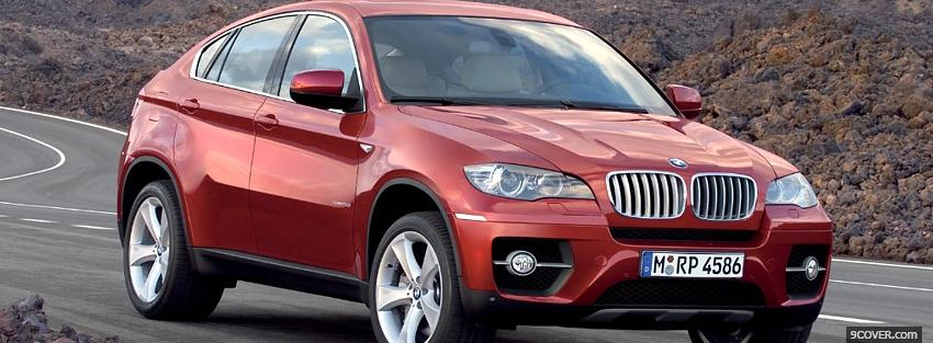 Photo bmw x4 red car Facebook Cover for Free