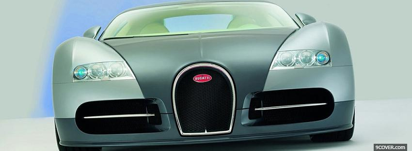 Photo bugatti veyron front Facebook Cover for Free