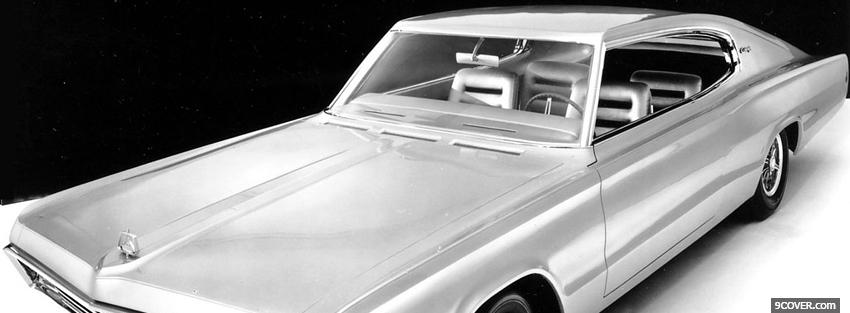 Photo 1965 dodge charger car Facebook Cover for Free