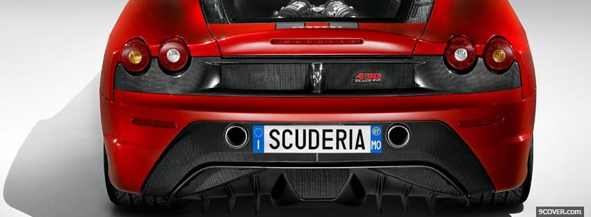 Photo back of ferrari f430 Facebook Cover for Free