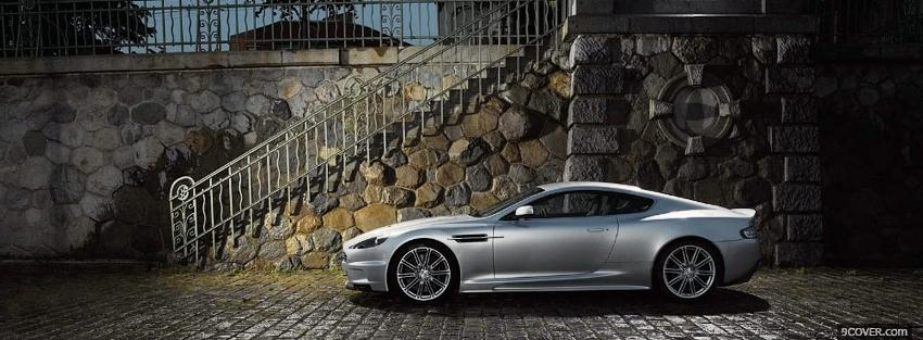 Photo car aston martin and stairs Facebook Cover for Free