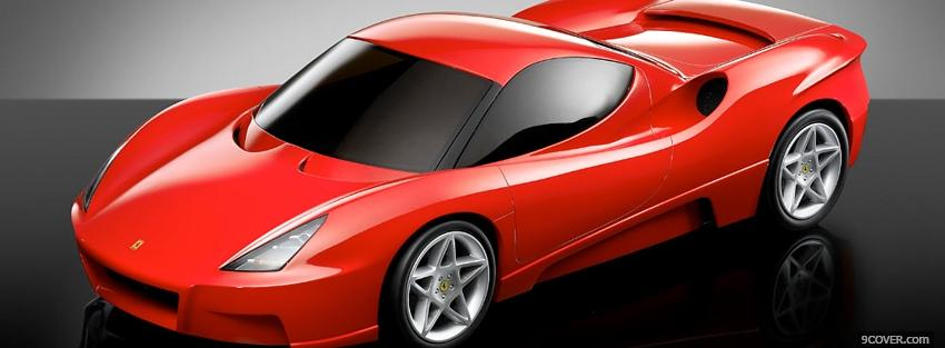 Photo red ferrari design Facebook Cover for Free