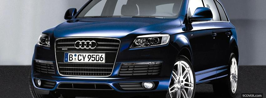 Photo 2013 blue audi q7 Facebook Cover for Free
