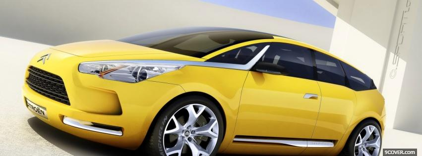 Photo citroen ds5 2011 car Facebook Cover for Free
