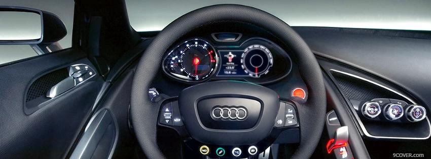 Photo inside audi car Facebook Cover for Free