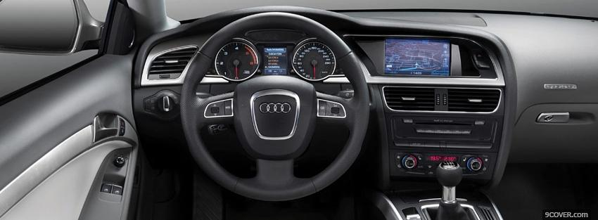 Photo interior audi a5 Facebook Cover for Free
