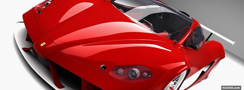 Photo red ferrari close up Facebook Cover for Free