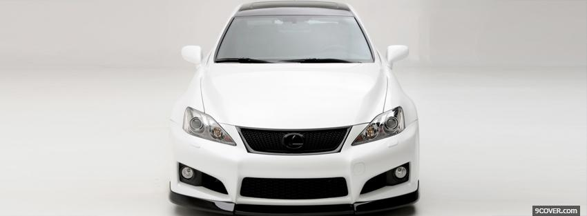 Photo ventross lexus white car Facebook Cover for Free