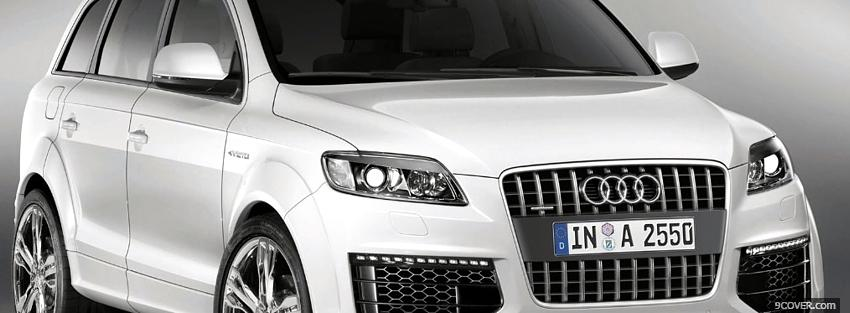 Photo white audi q7 Facebook Cover for Free