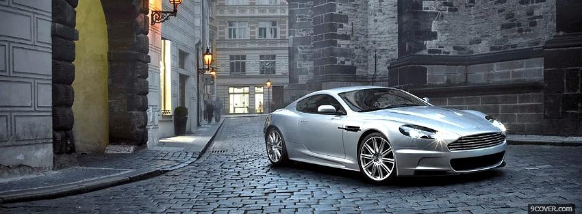 Photo aston martin outside Facebook Cover for Free