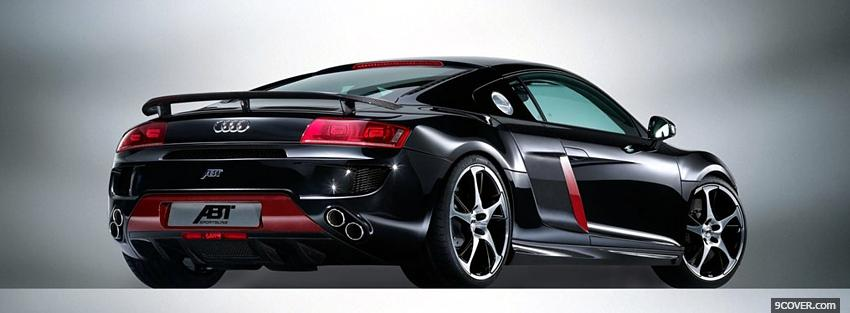 Photo audi r8 abt car Facebook Cover for Free