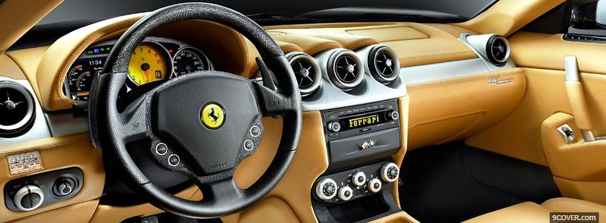 Photo ferrari 612 scaglietty gold inside Facebook Cover for Free