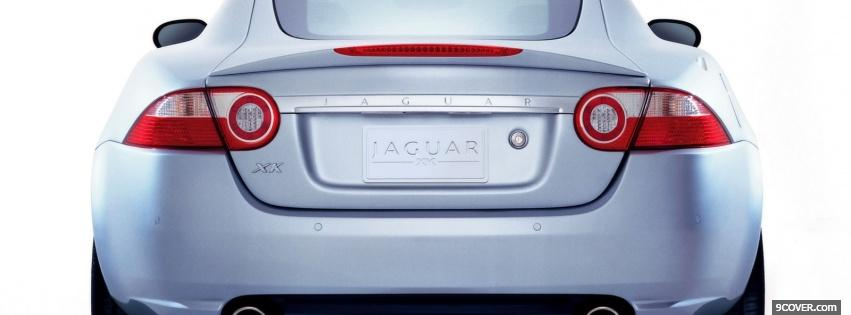 Photo jaguar xk back view Facebook Cover for Free