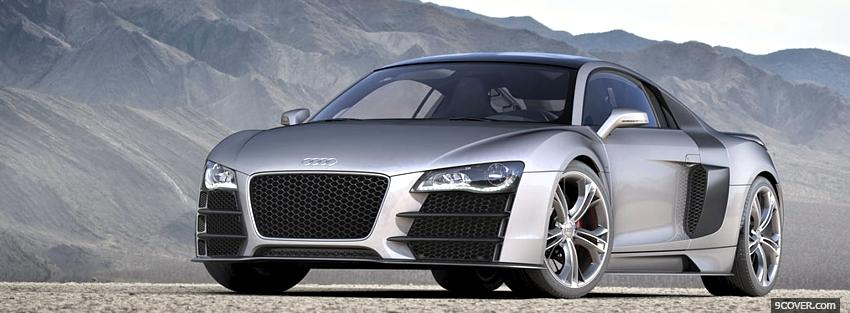 Photo audi r8 v12 silver Facebook Cover for Free