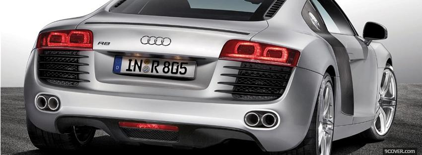 Photo back audi silver car Facebook Cover for Free