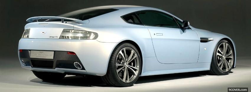 Photo back view aston martin car Facebook Cover for Free