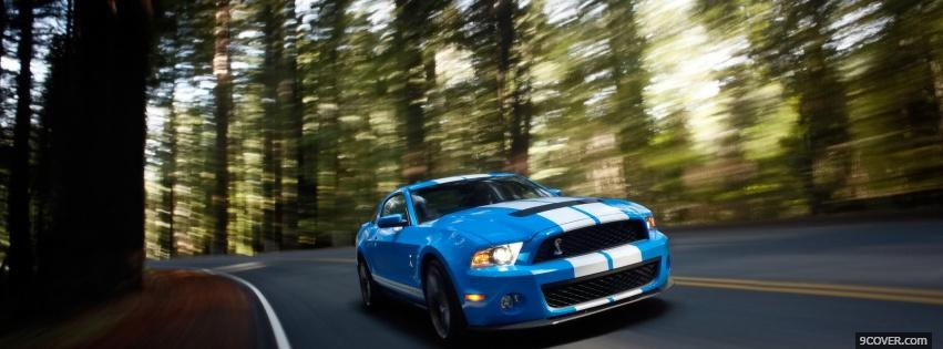 Photo blue and white shelby Facebook Cover for Free