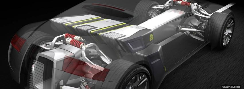 Photo inside audi r zero car Facebook Cover for Free