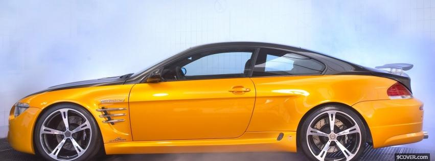 Photo yellow bmw m6 ac schnitzer Facebook Cover for Free