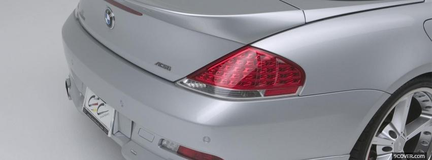 Photo bmw 645ci back view Facebook Cover for Free