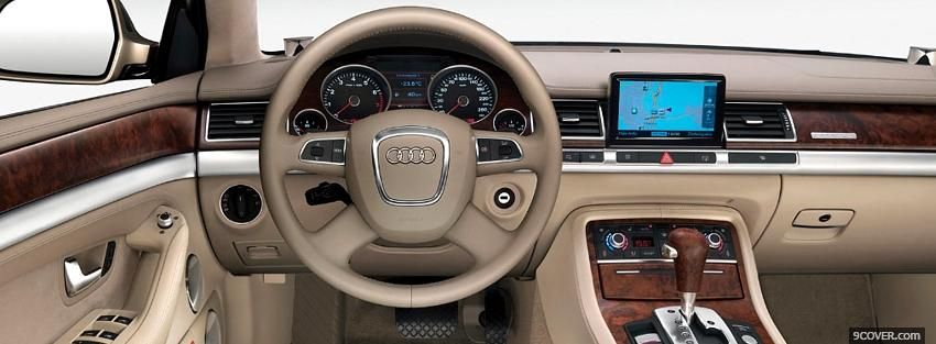 Photo inside audi a8 Facebook Cover for Free