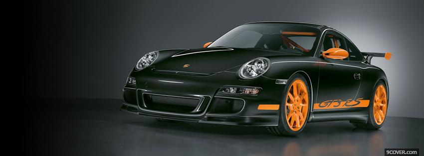Photo porsche 911 black and orange Facebook Cover for Free