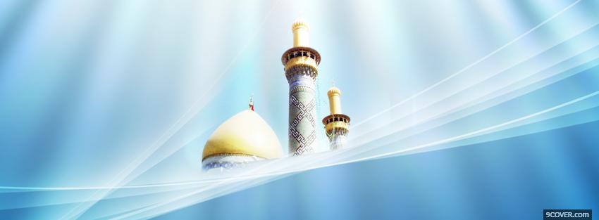 Photo religions abstract blue and muslim temple Facebook Cover for Free