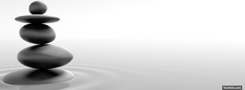 religions black and white zen rocks Photo Facebook Cover