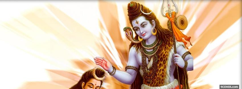 Photo god shiva parvati Facebook Cover for Free