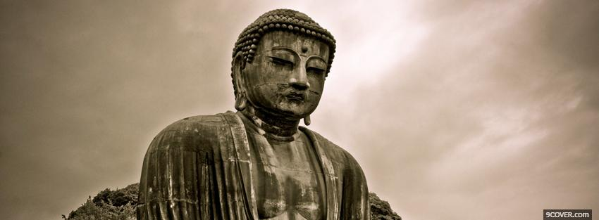Photo religions buddha and cloudy sky Facebook Cover for Free