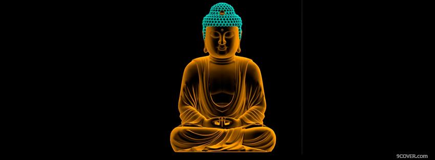 Photo religions glowing buddha Facebook Cover for Free